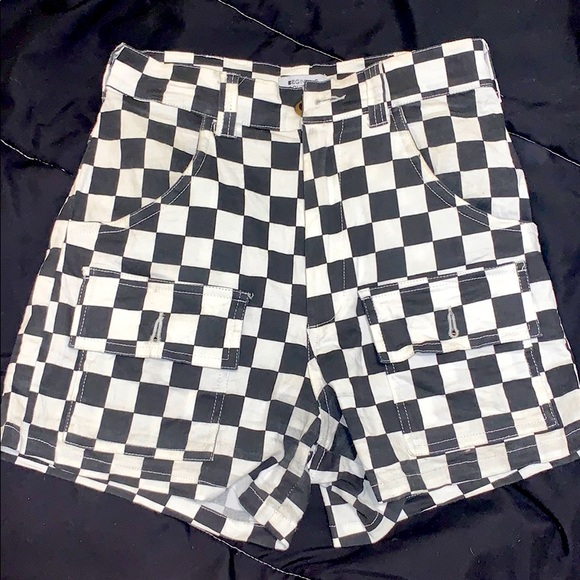 Beginning Boutique Checkered Shorts